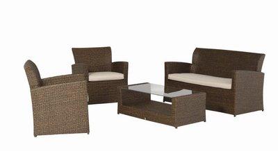 Lounge Set 4-Delig Macchiato/Ecru