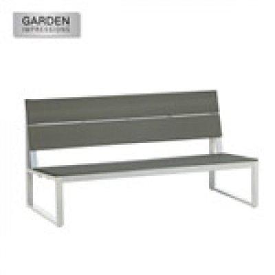 Lounge Parkbank Wit/Ocean Grey