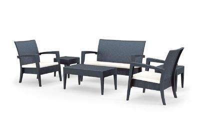 Lounge Set 6-Deling Donkergrijs
